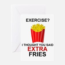EXERCISE - EXERCISE?  I THOUGHT YOU  Greeting Card