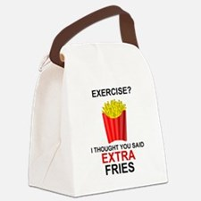 EXERCISE - EXERCISE?  I THOUGHT Y Canvas Lunch Bag
