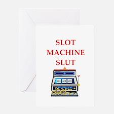 slot machine Greeting Cards