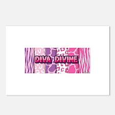 Diva Divine (animal print Postcards (Package of 8)