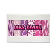 Diva Divine (animal print design) Magnets