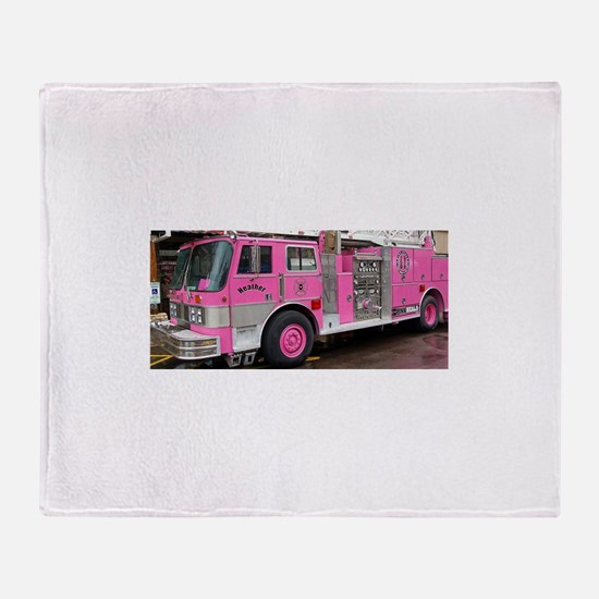 Pink Fire Truck (real) Throw Blanket