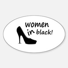 Women in black Decal