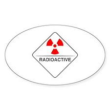 Warning Radioactive Oval Decal