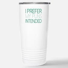I Prefer My Puns Intended Ceramic Travel Mug