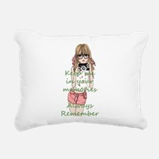 Keep me in your memory Rectangular Canvas Pillow