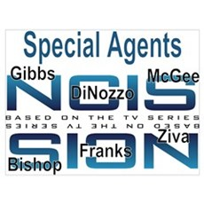 Special Agents of NCIS Framed Print