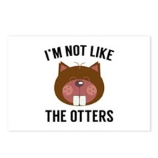 I'm Not Like The Otters Postcards (Package of 8)