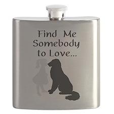 Mandollyn's Dogs Flask