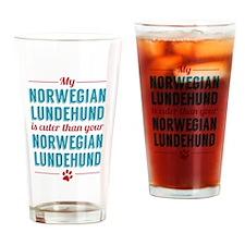 My Norwegian Lundehund Drinking Glass