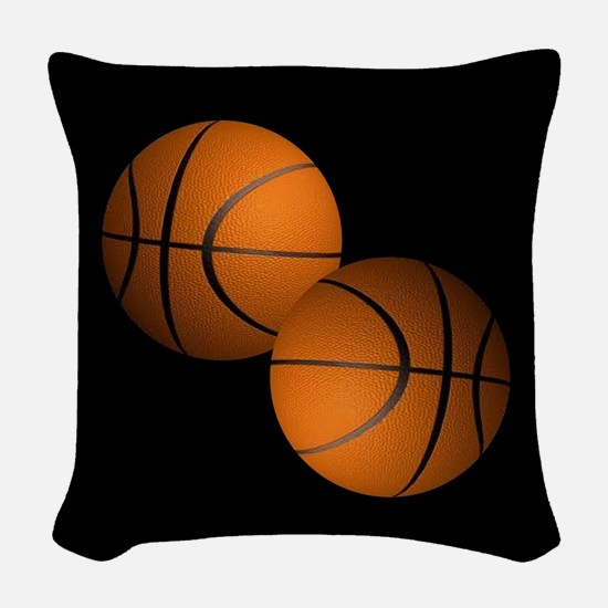 Basketball Woven Throw Pillow