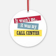 Call center Ornament (Round)