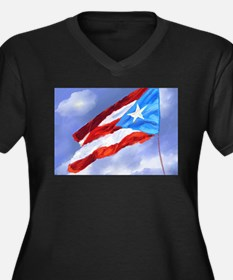 Puerto Rico Flag (abstract style Plus Size T-Shirt