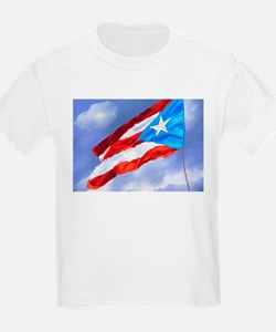 Puerto Rico Flag (abstract style) T-Shirt