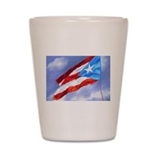 Puerto Rico Flag (abstract style) Shot Glass