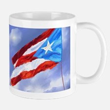Puerto Rico Flag (abstract style) Mugs