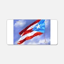 Puerto Rico Flag (abstract Aluminum License Plate