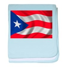 Puerto Rico Flag (bright) baby blanket