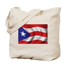 Puerto Rico Flag (bright) Tote Bag