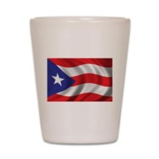 Puerto Rico Flag (bright) Shot Glass