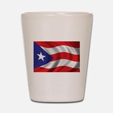 Puerto Rico Flag (bright) Shot Glass