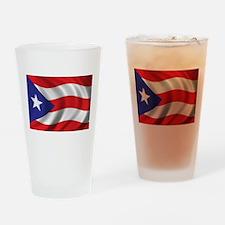 Puerto Rico Flag (bright) Drinking Glass
