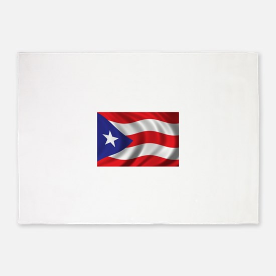 Puerto Rico Flag (bright) 5'x7'Area Rug
