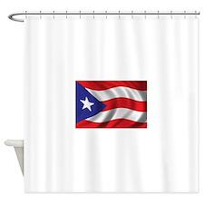 Puerto Rico Flag (bright) Shower Curtain