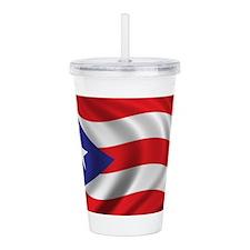 Puerto Rico Flag (brig Acrylic Double-wall Tumbler