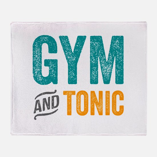 Gym and Tonic Throw Blanket