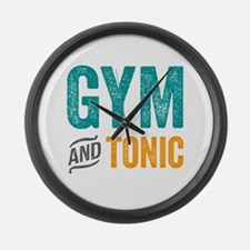 Gym and Tonic Large Wall Clock