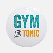 Gym and Tonic Round Ornament