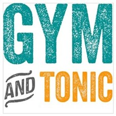Gym and Tonic Framed Print