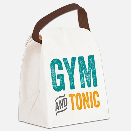 Gym and Tonic Canvas Lunch Bag