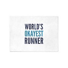 World's Okayest Runner 5'x7'Area Rug
