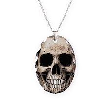 Cute Sugar skull Necklace Oval Charm