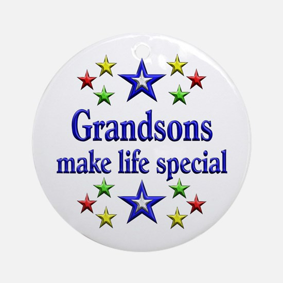 Grandsons are Special Ornament (Round)