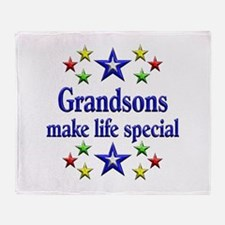 Grandsons are Special Throw Blanket