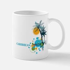 Palm Trees Sun and Circles Mug
