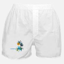 Palm Trees Sun and Circles CARIBBEAN Boxer Shorts
