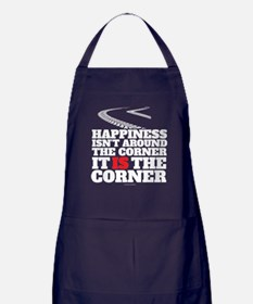 Happiness Isn't Around The Corner Apron (dark)