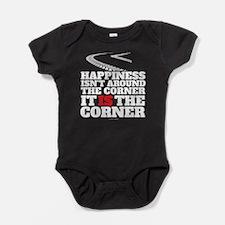 Happiness Isn't Around The Corner Baby Bodysuit