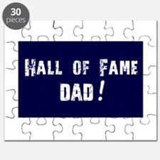 Hall of Fame Dad Blue White Puzzle