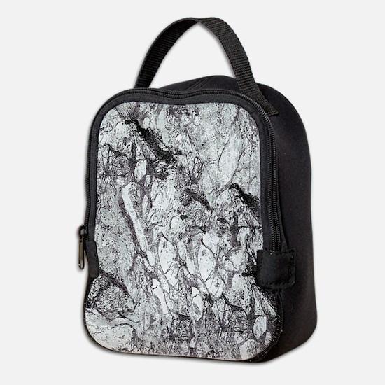 Black and White Marble Neoprene Lunch Bag