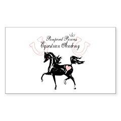 Equestrian Princess Academy Rectangle Decal