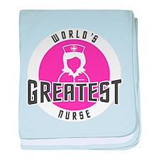 WORLD'S GREATEST NURSE baby blanket
