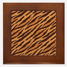 Tiger Fur Framed Tile