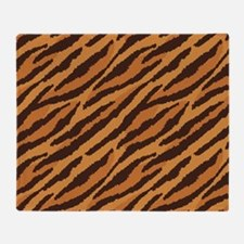 Tiger Fur Throw Blanket