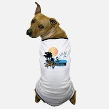 Sun Surf and Palms Tropics Dog T-Shirt