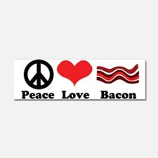Peace, Love and Bacon Car Magnet 10 x 3